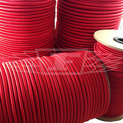 4mm ELASTIC BUNGEE ROPE SHOCK CORD TIE DOWN RED, ROOF RACKS TRAILERS BOATS