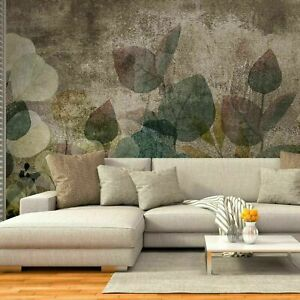 VLIES-FOTOTAPETE-Blatt-Dekoration-Floral-TAPETE-WANDBILDER-XXL-Braun