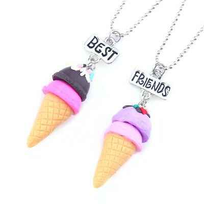 2PCS Unicorn Best Friends Childrens Necklace Teens Girls 2 Necklaces UK Seller