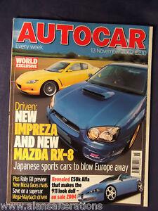 AUTOCAR-Magazine-13th-November-2002-Impreza-amp-RX-8