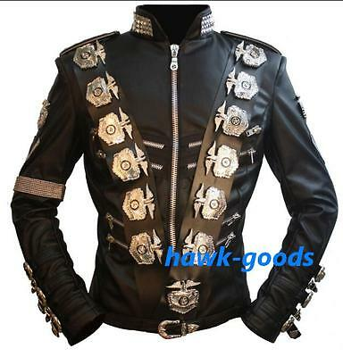 New!!MICHAEL JACKSON BAD PU LEATHER JACKET IN JAPAN PERFORMANCE