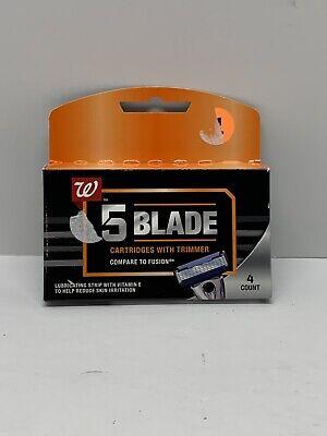 Walgreens Men S 5 Blade Cartridges With Trimmer Razor Refills Nwot