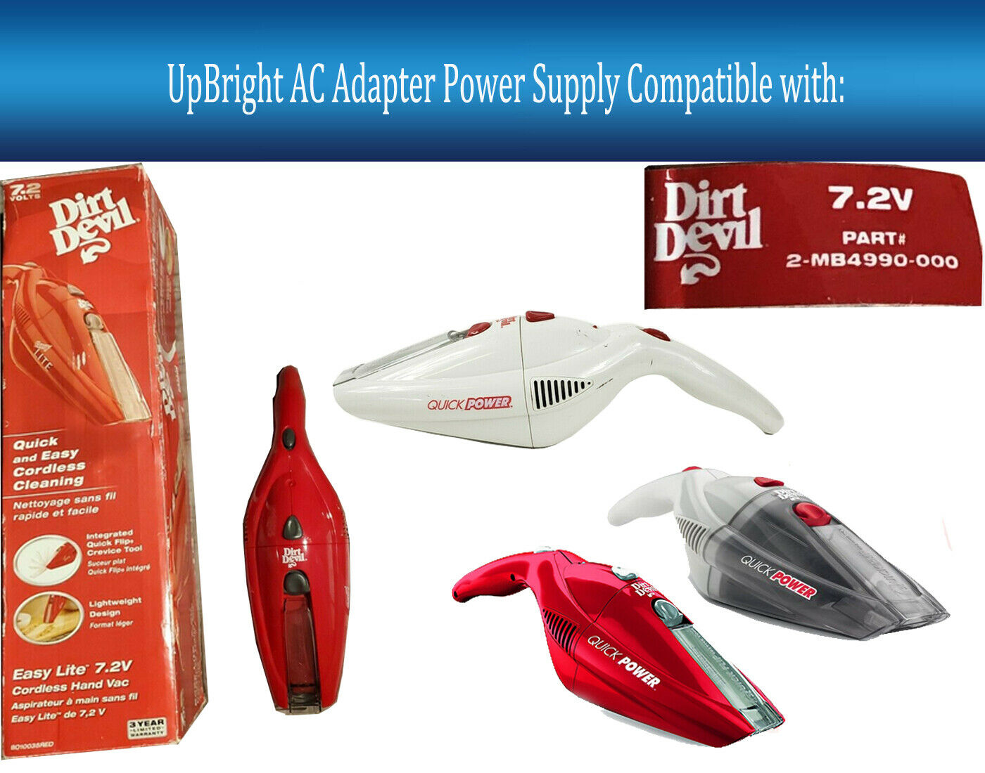 dirt devil bd10035 handheld vac charging base and power supply