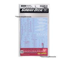 GUNDAM - 1/100 GD-13 MG Wing Ver Ka. Decals Bandai