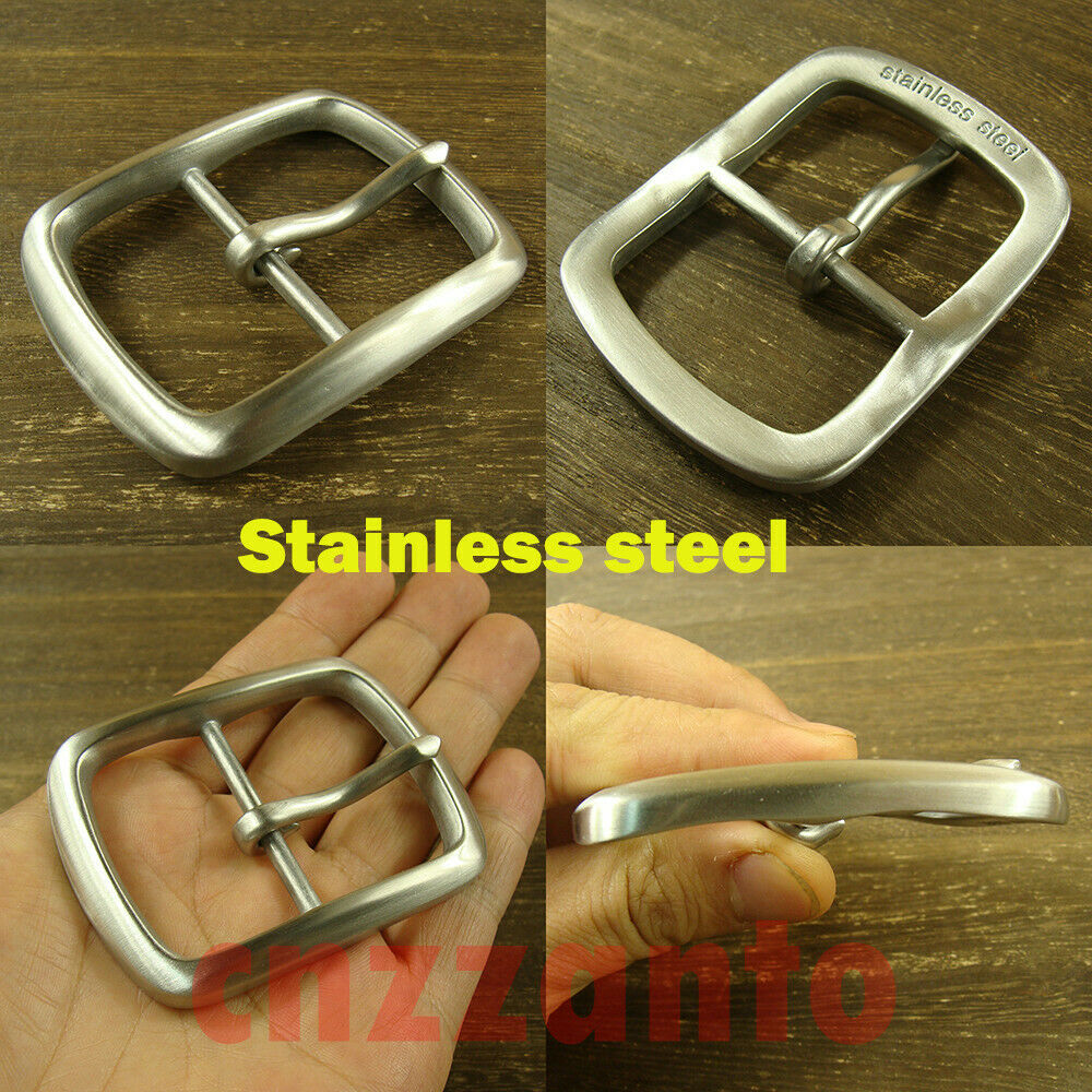 Stainless steel Belt Buckle Brushed polish Single Tongue Pin for 38mm belt Z404