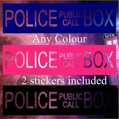 2pc Telefono Della Polizia Pubblica Call Box Doctor Who Tardis Adesivo Muro Finestra Auto- Una Vasta Selezione Di Colori E Disegni
