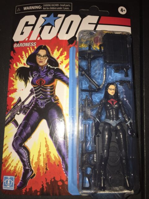 "💥🔥💥🐍🐍💥GI Joe Retro Collection Cobra BARONESS 3.75"" Walmart Action Figure"