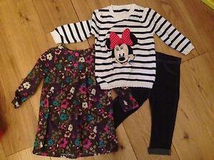 Girls-9-12-Month-Bundle-Jeans-Leggings-Jumper-Dress-and-Dress-Boots-VGC