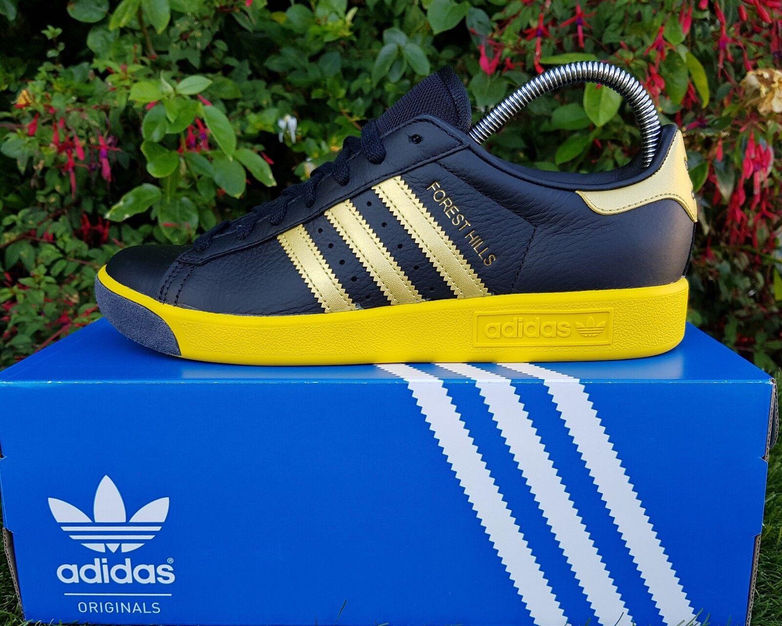 BNWB & Forest Genuine adidas originals ® Forest & Hills Retro Black Trainers UK Size 11 2d6329