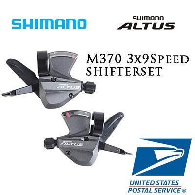 Mountain Bike SL-M370 Thumb Gear Shifter 9//27 Speed Shift Lever Set For Cycling