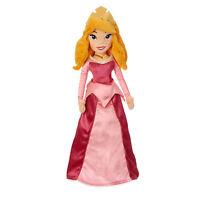 Disney Store Princess Aurora Sleeping Beauty Embroidered Plush Doll Toy 20 1/2