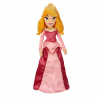 Disney Store Princess Aurora Sleeping Beauty Embroidered Plush Doll Toy 20 1/2
