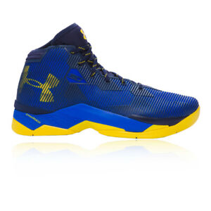190e0625fb5d Under Armour Mens Curry 2.5 Basketball Shoes Blue Sports Breathable ...