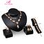 Prom-Wedding-Bridal-Party-Rhinestone-Ring-Bracelet-Necklace-Earring-Jewelry-Set thumbnail 21