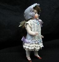 "Tiny Silk Dress Set for 4"" Antique Doll Mignonette All Bisque Kestner Dollhouse"