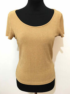 Fête T Luisa Femme S Shirt Soirée Lurex Sz Spagnoli gf76yYb