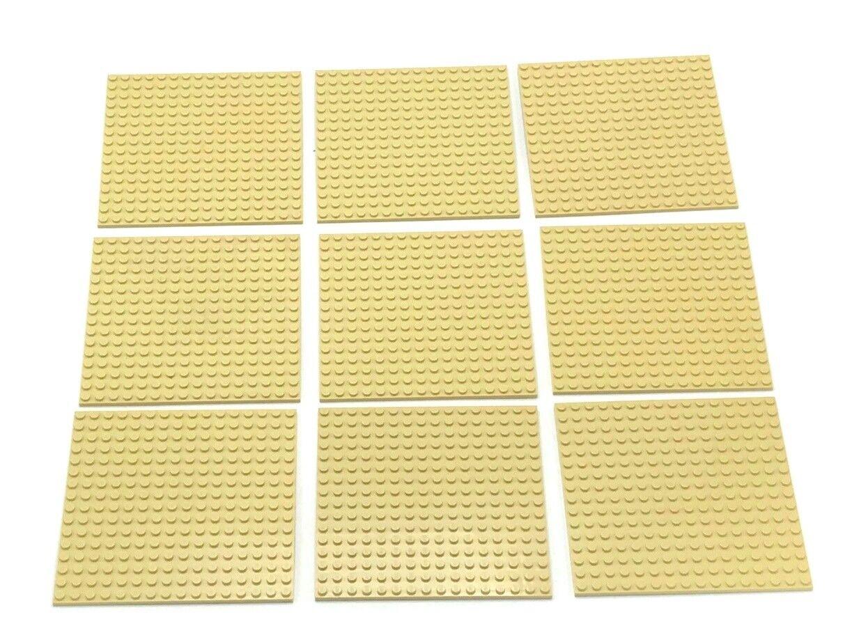 Lego 9 Nuevo brown 16 X 16 Punto Placas silverformas 12.7x12.7cm Pieza