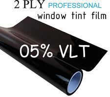 "Professional Window Tint Film 2 PLY 20""x20ft Roll 5% VLT Black Tinting"