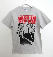 NWT Shaun of the Dead Bash'em in the Head t-shirt in light gray adult size SMALL