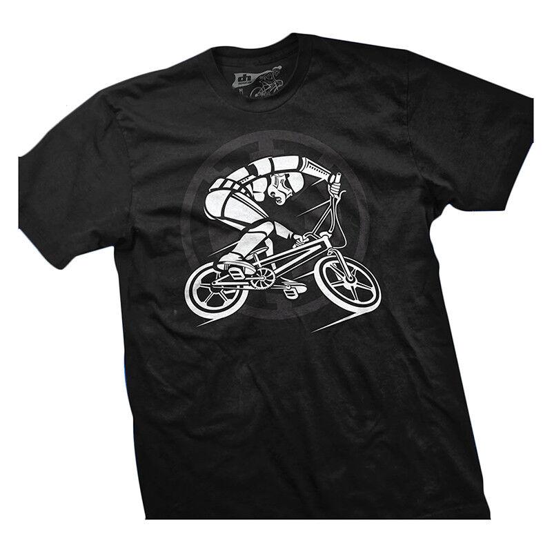 Dh Designs Bmx Trooper Abbigliamento Abbigliamento Abbigliamento T-Shirt Dhd Bmx Trooper Sella XL Nero e6d670