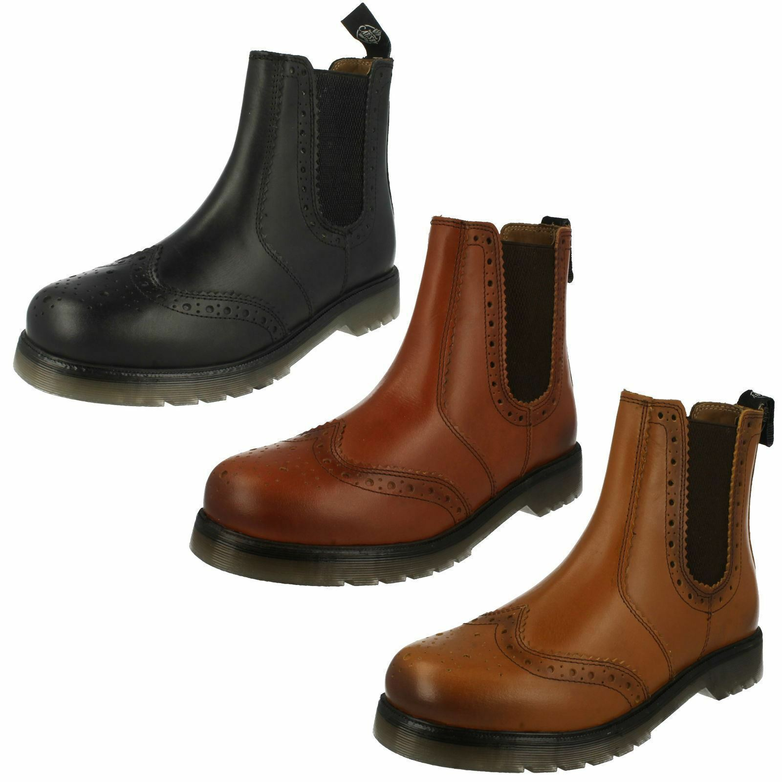 Mens 1800 / 01800 leather brogue boots By Catesby Retail price