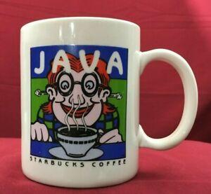 Starbucks Java Vintage Coffee Cup Mug Cordon Bleu Decorated In Usa
