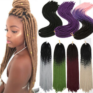 24 soft dreadlocks crochet braids kanekalons jumbo dread ombre hair