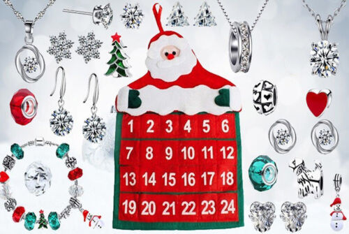 24 DAY JEWELLERY ADVENT CALENDAR GIFTS MADE WITH CRYSTALS FROM SWAROVSKI £16.95 @ eBay