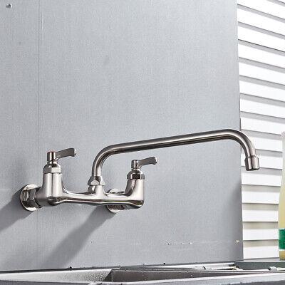 BWE NEW No Lead Faucet Commercial Sink Wall Mount Kitchen Faucet Swivel Spout