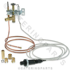 UNIVERSAL 3 WAY 6mm GAS PILOT KIT WITH PUSH BUTTON SPARK IGNITOR & THERMOCOUPLE