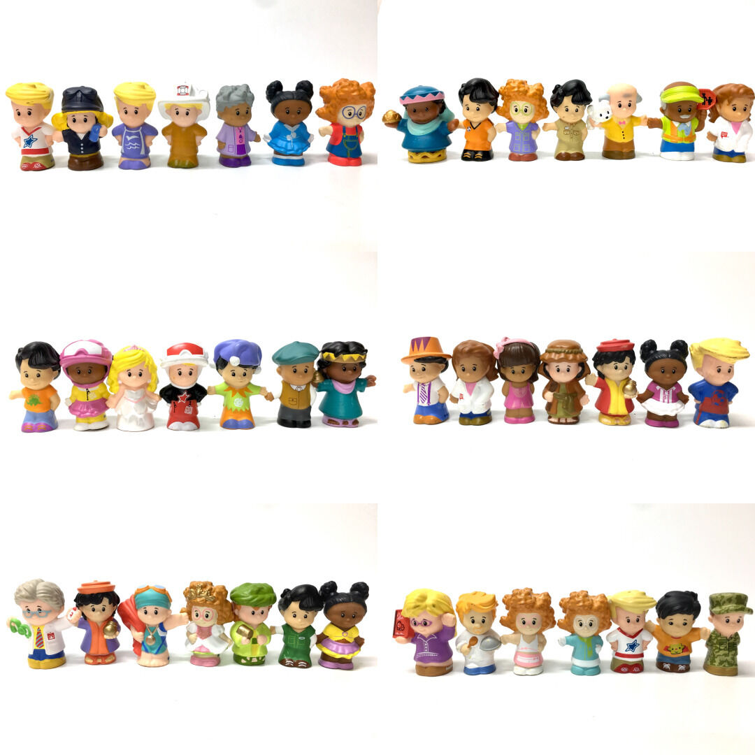 Random different 12PCS Fisher Price Little People 2in. Figure Kid  Toy Doll Gift