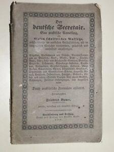 Friedrich Bauer : Der deutsche Seeretair - Antik Buch (1852) - Kahl, Deutschland - Friedrich Bauer : Der deutsche Seeretair - Antik Buch (1852) - Kahl, Deutschland