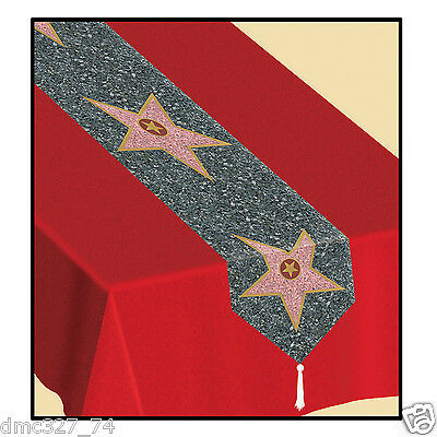HOLLYWOOD Movie Night Party Star WALK OF FAME Decoration Paper TABLE RUNNER