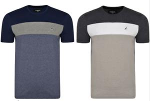 Mens-Kangol-Plus-Big-Size-Crew-Neck-Wide-Stripe-Panal-T-Shirt-Top-2XL-6XL
