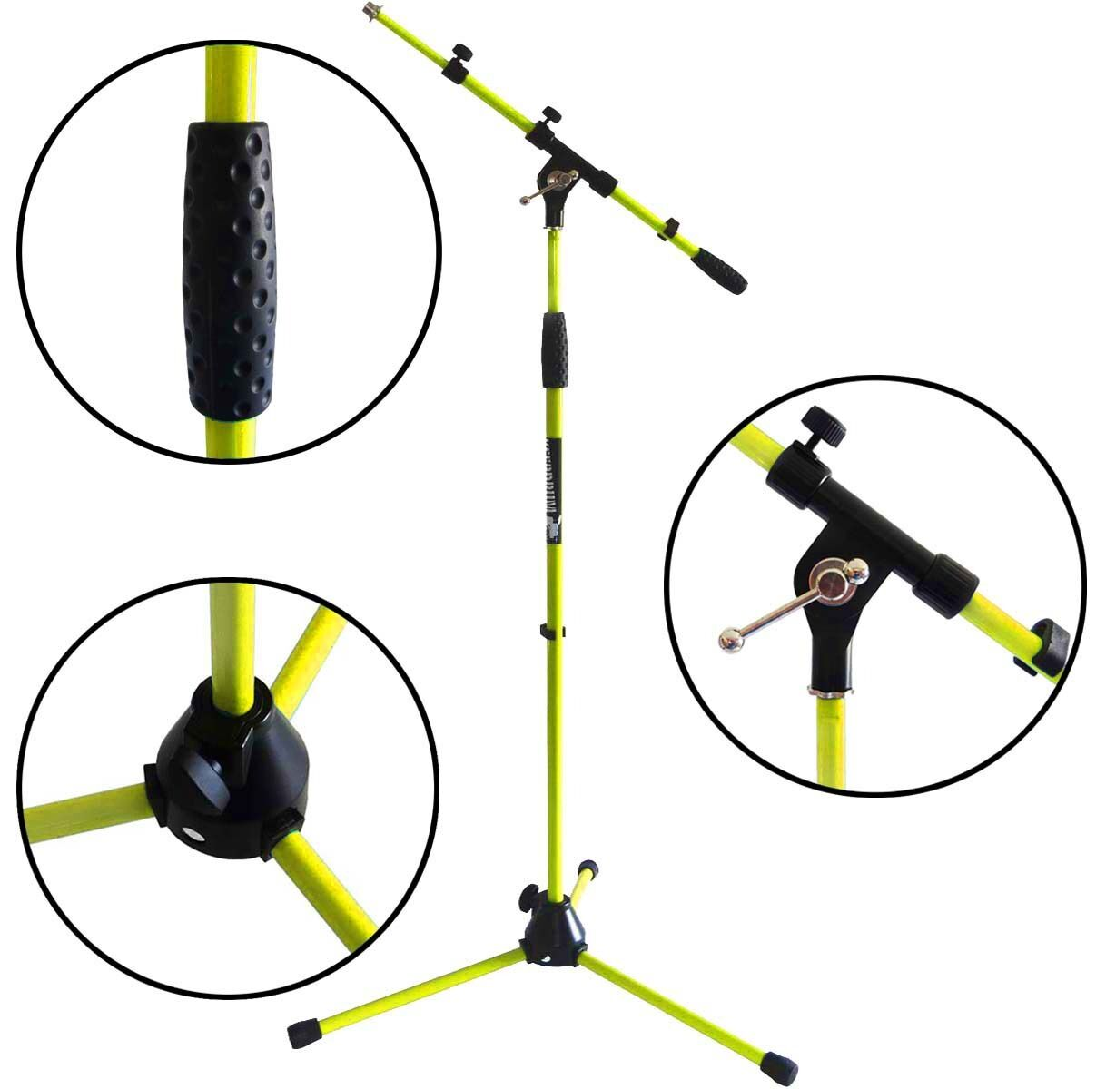 Keep DRUM MS106 YW Yellow Microphone Stand Microphone Stand with gallows U Metal Base