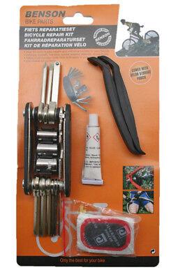 Creativo Bicicletta Set Riparazione Kit Con Utensile Pneumatico Riparazione Set 15 Pezzi Set-ur-satz 15-teilig Set It-it Ampie Varietà