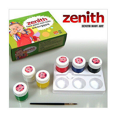 ZENITH Face Body Paint 6 Colors 10ml Non-Toxic Halloween Party - Included Brush