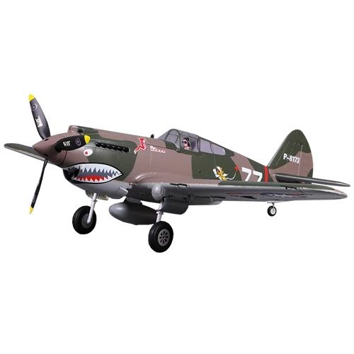 P-40B Flying Tiger Warhawk se retrae 100mph+ de alta velocidad no hay señales Tx rx Bat