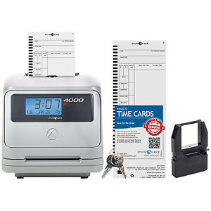 automatic pay roll card time clock totaling machine work tracker