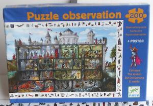 Puzzle-observation-200-Teile-Die-Erstuermung-Djeco-dicke-Puzzleteile-Suchbild