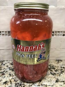 1 Gallon Jar Hannah S Pickled Pig S Feet Like Sausage Wieners 4 25 Lbs Free Ship Ebay