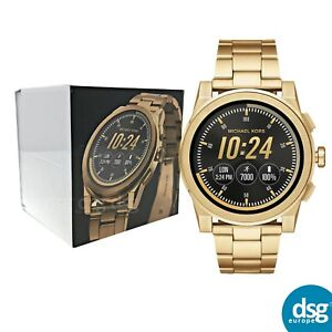 10f726f8f23f Image is loading MICHAEL-KORS-SmartWatch-Grayson-Gold-Apple-Android-MKT5026-