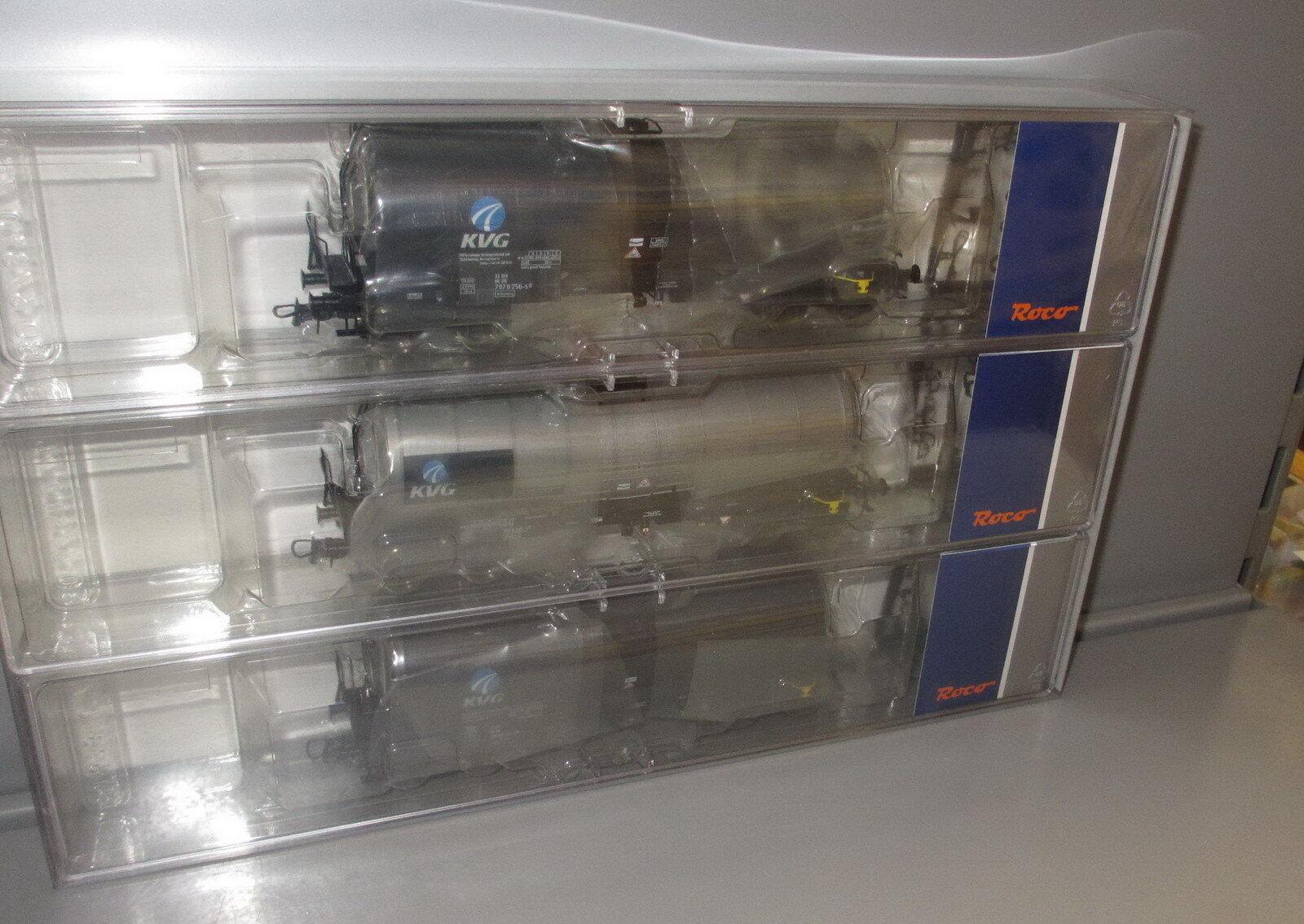 Roco H0 76156 DB  Knickkesselwagen-Set _ KVG _ EP  V