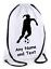 Personalised Drawstring Bag FOOTBALL Player School PE Gym Kit Sports Girls Gift