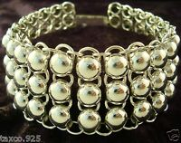 VINTAGE DESIGN TAXCO MEXICAN STERLING SILVER BEADED BEAD BRACELET MEXICO