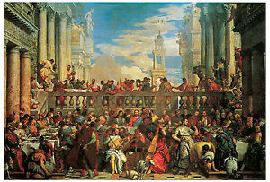 Wedding Feast At Cana.Details About The Wedding Feast At Cana 1563 Paulo Veronese Life Of Jesus Art