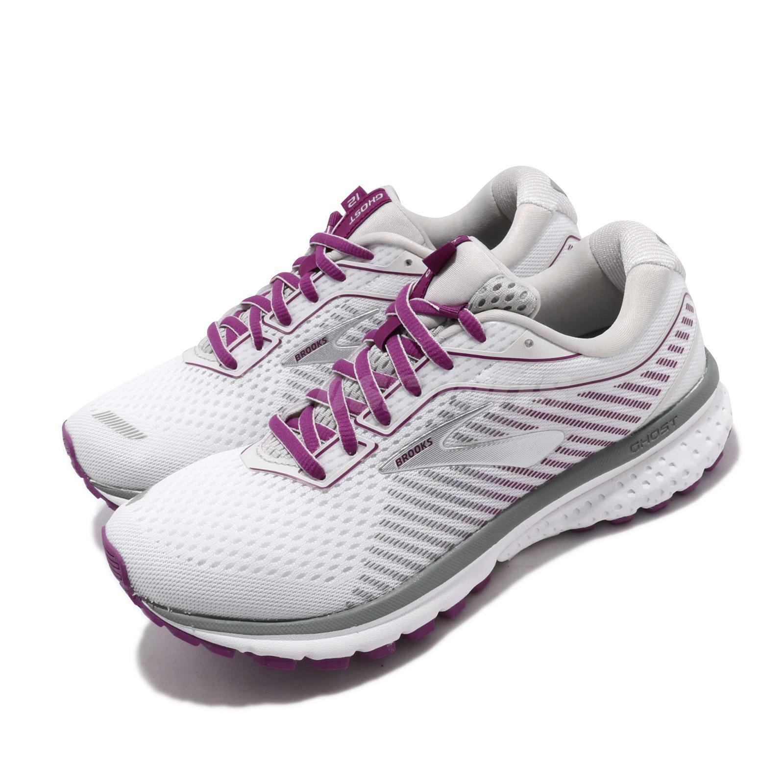 Brooks Ghost 12 D Ancho blancoo púrpuraa Mujer Running Zapatos TENIS 120305 1D