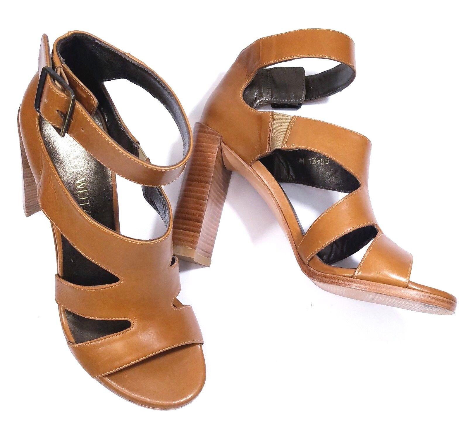 promozioni di squadra Stuart Weitzman Weitzman Weitzman scarpe Hiroller Sandals Open Toe Cut-out Camel 6M  bellissimo