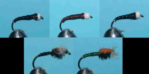 008 20 Chrinomid Buzzer selection HAND TIED FLIES TROUT FISHING FLY