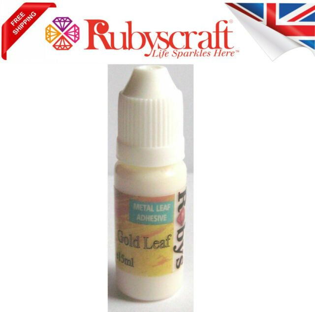 Craft Glue Gold leaf Size metal Gilding Adhesive 15ml copper silver sheets flake